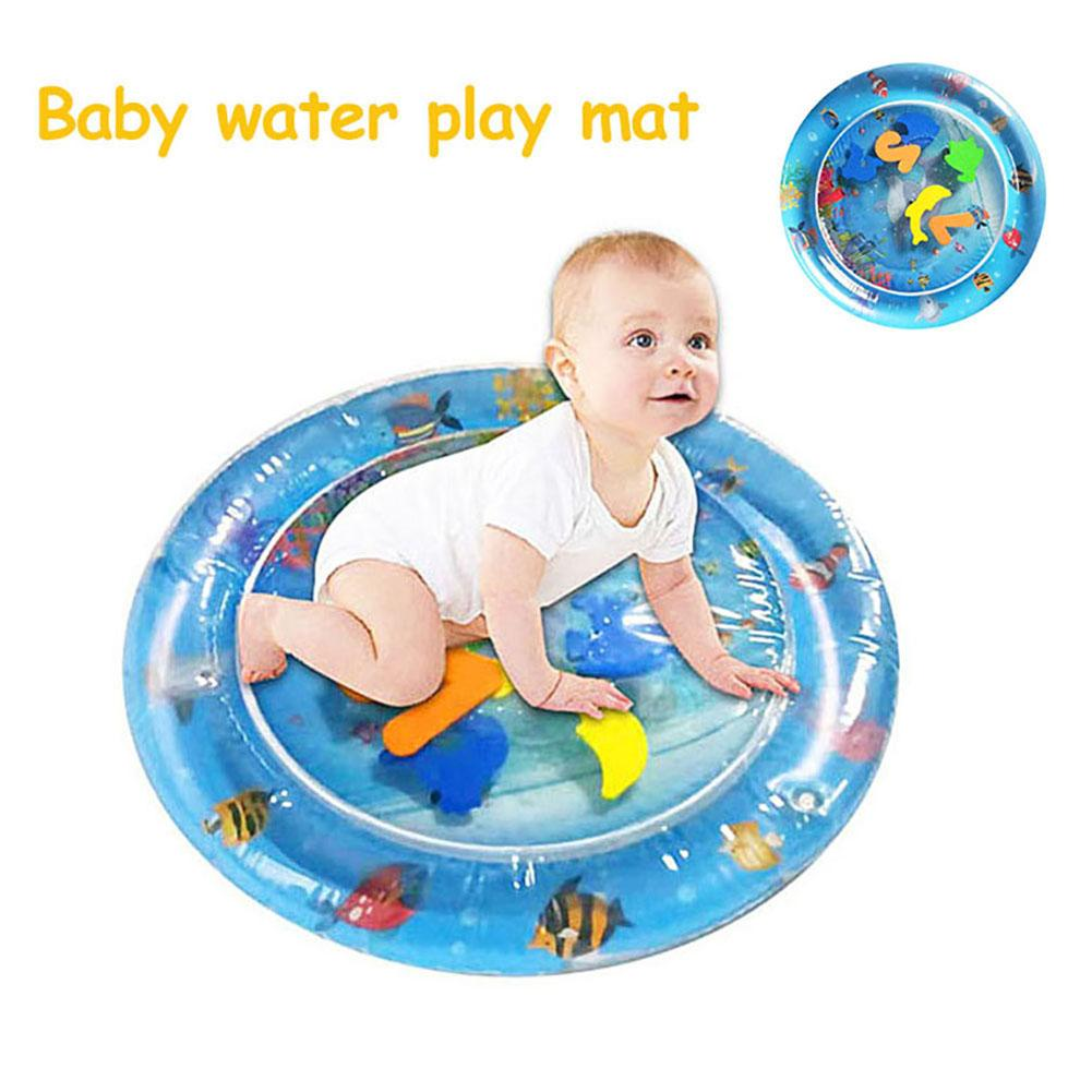Baby Thicken Inflatable PVC Tummy Time Water Play Mat Prostrate Cushion Great Sensory Stimulation Motor Cognitive Abilities