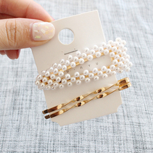 Girl Hairpins Simple Fashion Jewelry Clips Women Beautiful Plated Pearl Hair Bridal Headdress
