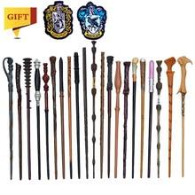 27 tipos de metal núcleo potters varinhas mágicas cosplay voldemort hermione varinha mágica pano etiqueta como bônus sem caixa