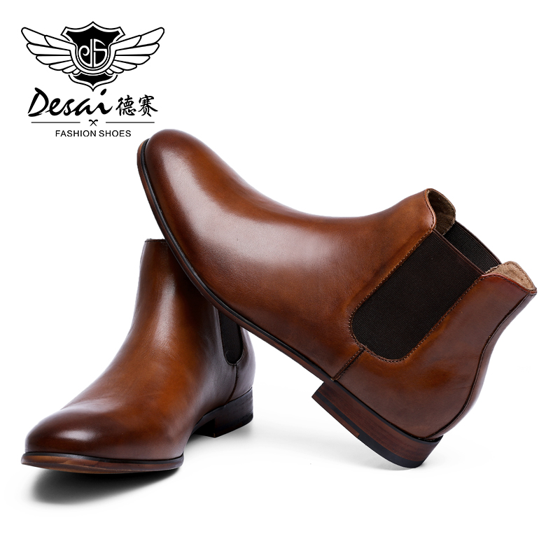 DESAI Manufacturer Oxford Wedding Gentleman High Quality Leather Shoes Boots For Men 2019-in Work & Safety Boots from Shoes