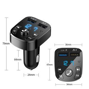 Автомобильный беспроводной Bluetooth FM-трансмиттер, зарядное устройство MP3, двойной оборудованный плеер, Bluetooth светодиодный дисплей, автомобильное зарядное устройство с двумя USB-портами