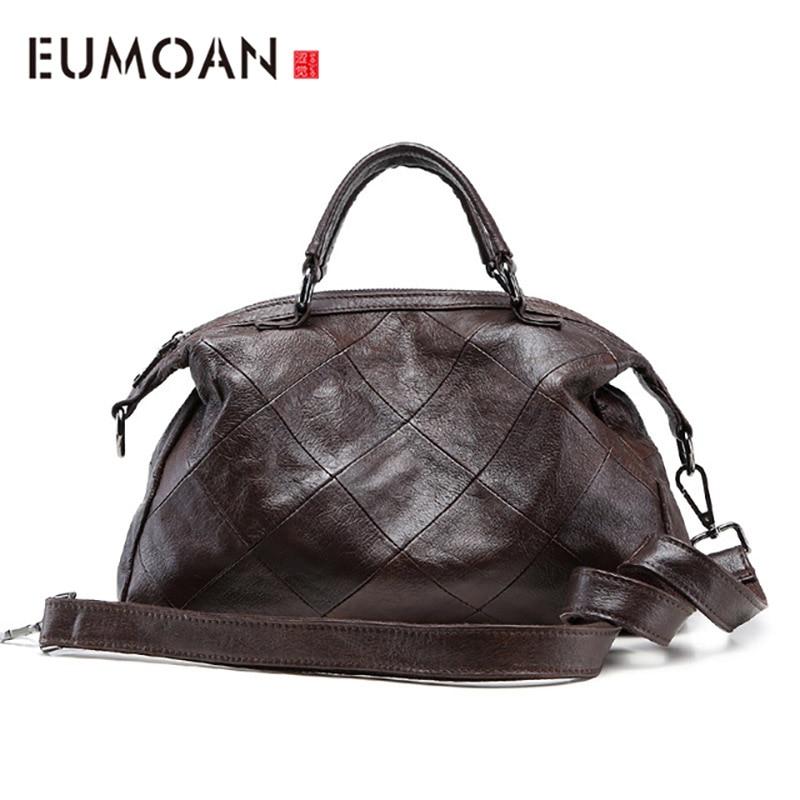 Bagaj ve Çantalar'ten Üstten Saplı Çanta'de EUMOAN Yeni moda çanta klasik deri çanta basit moda omuz omuzdan askili çanta'da  Grup 1