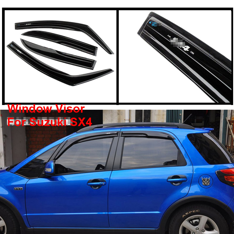 4pcs Deflector Cover Window Visor Shade Vent Wind Rain Deflector Guards For Suzuki SX4|Awnings & Shelters| |  - title=