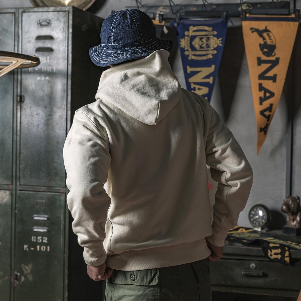 Bronson Vintage Sportwear Hooded Sweatshirts 600gsm Cotton Fleece Men's Hoodies
