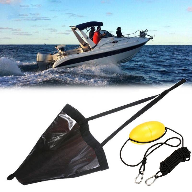 "2 pcs Portable PVC 18/"" Fishing Sea Anchors Drogue Brake for 12-14ft Boats"