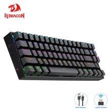 Redragon Deimos K599 KRS RGB USB Mechanical Gaming Keyboard 2.4G wireless dual mode Red Switch Backlit 70 Keys Computer