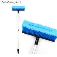 Car Wash Water Brush Upgrade Long Handle Aluminum Alloy Retractable Soft Hair Wash Equipment Car Supplies