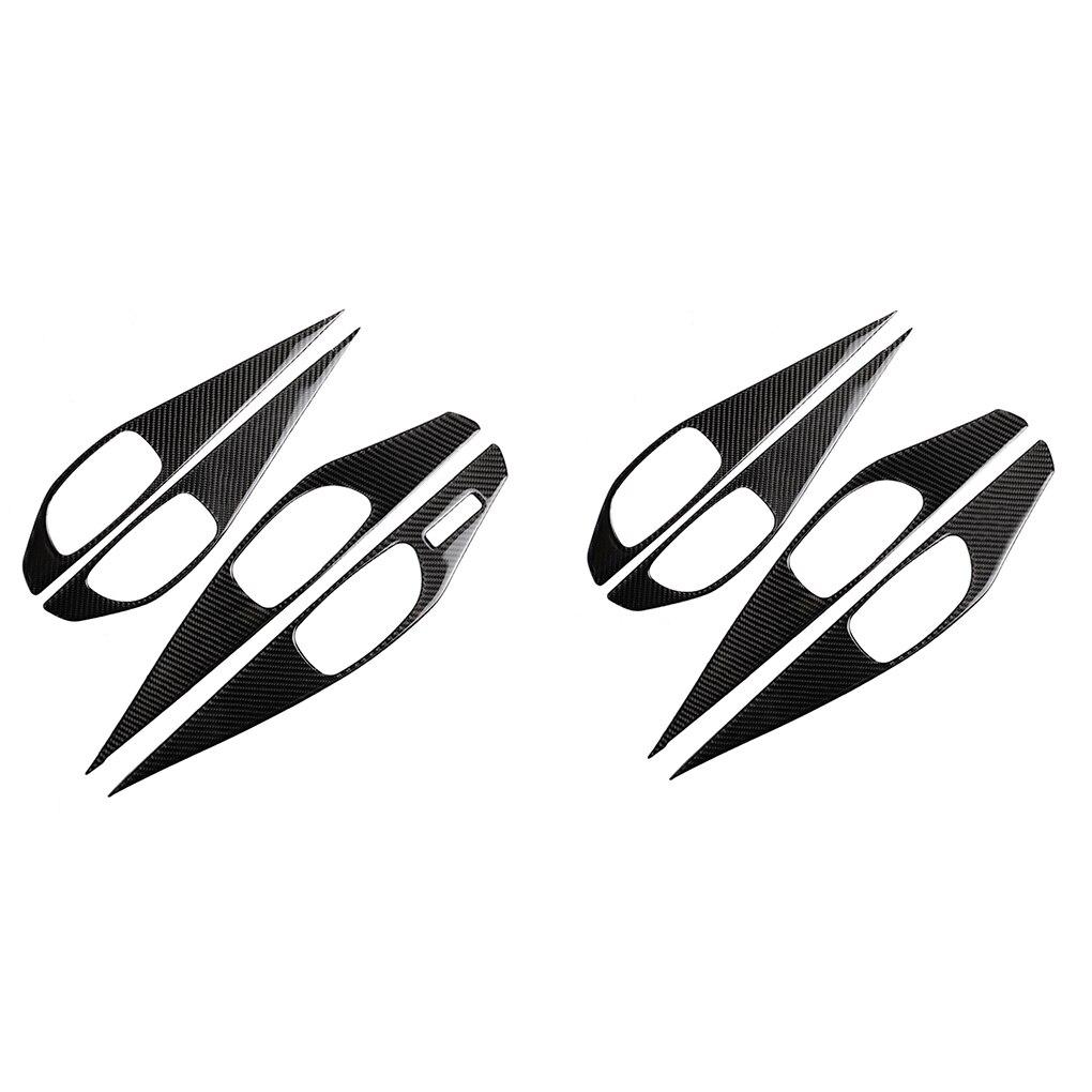 Remplacement pour Infiniti Q50 2014-2019 4 pièces/ensemble poignée de porte intérieure bol couvercle en Fiber de carbone garniture décor
