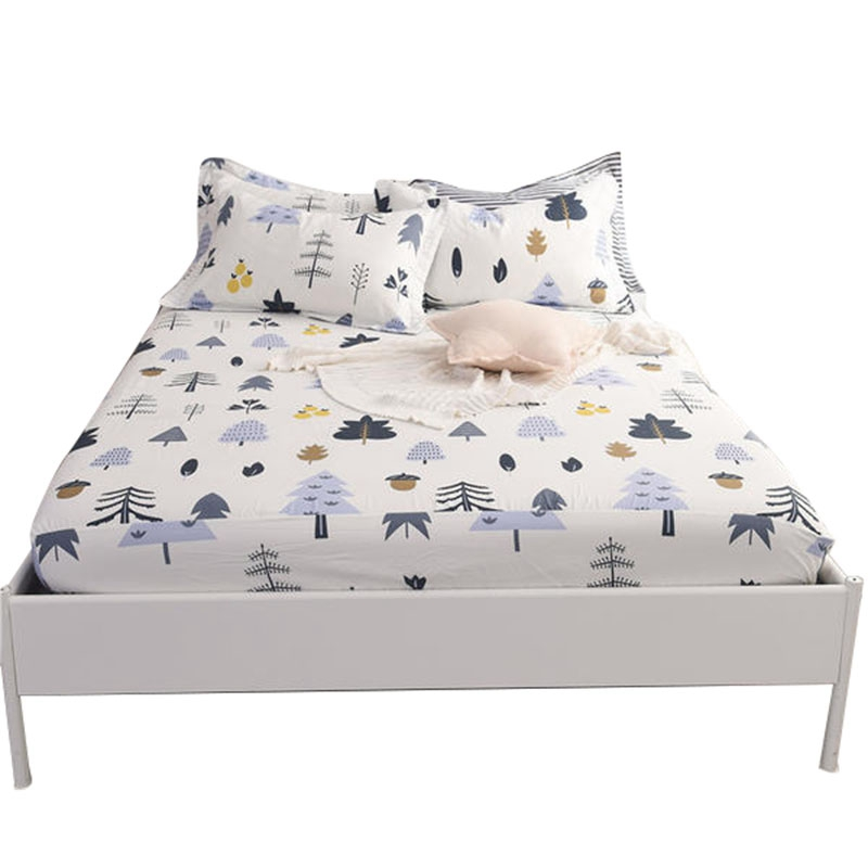 1 Piece Tree Printing Bed Mattress Cover Protector Sheet Air Permeable Home Textile Mattress Cover Grippers Bed Linens|Sheet| |  - title=