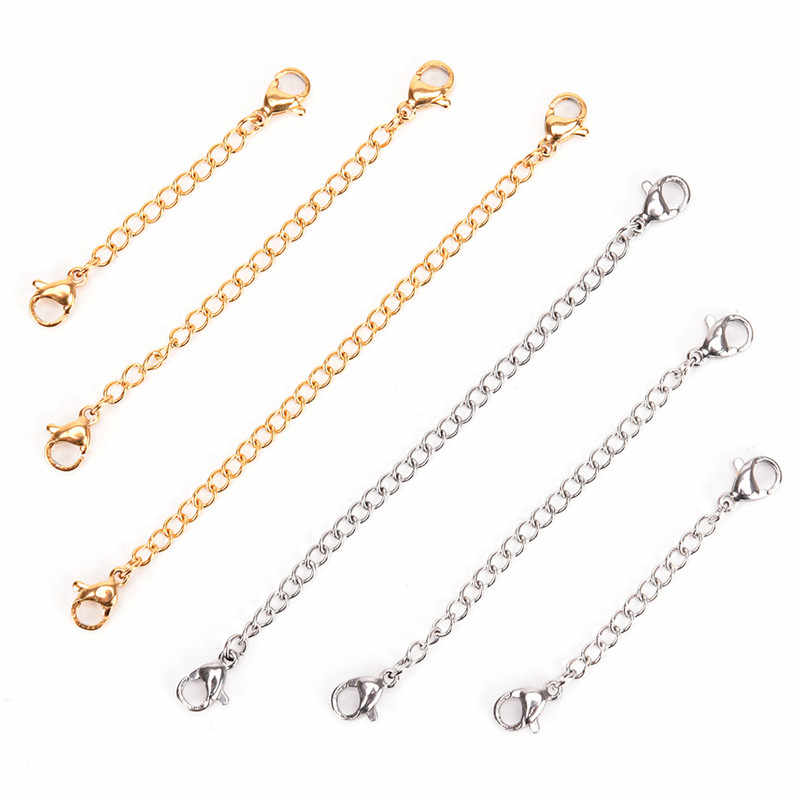 Heißer 50mm/75mm/100mm DIY Silber Gold Farbe Halskette Armbänder Fußkettchen Verlängerung Kette ForJewelry, Der materialien