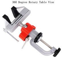 Household Universal 360 Degree Rotating Table Vise Small Precision Pliers Multi-functional Flat Pliers Manual Bench Clamp