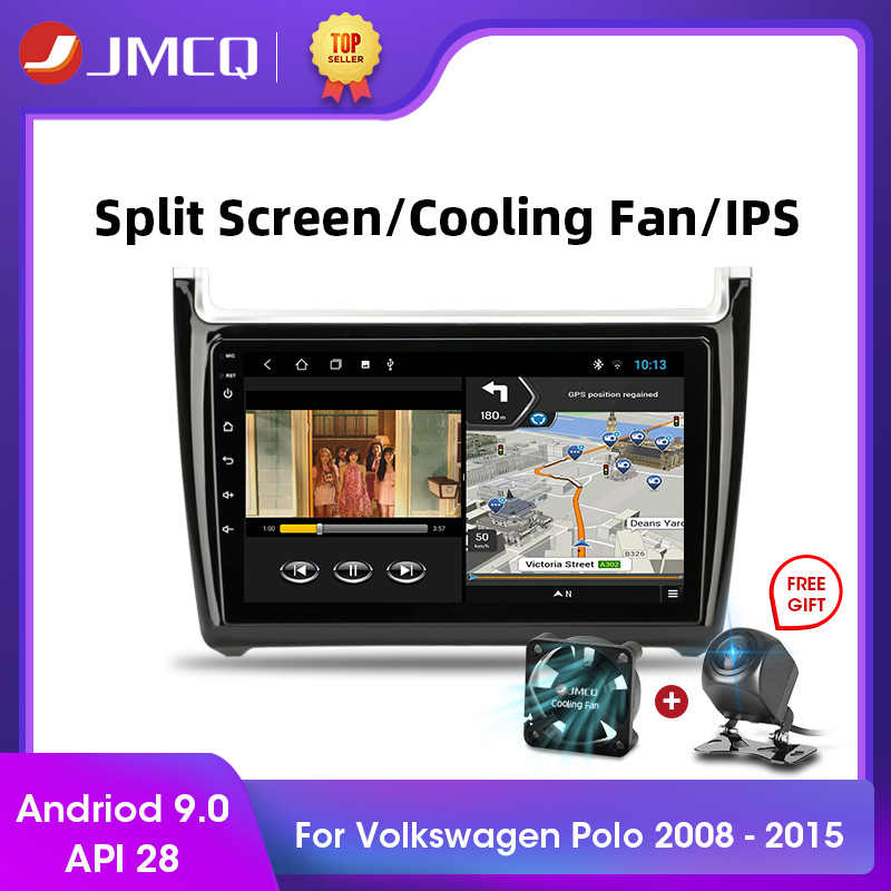 "Jmcq 9 ""2 DIN HD Layar Sentuh Android Mobil Radio GPS Navigasi Auto Audio Stereo Mobil Pemain untuk Volkswagen VW Polo 2008-2015 FM"