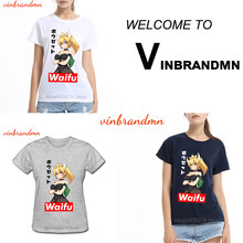Tee Shirts Waifu Cartoon Ladies T Shirts Bowsette Waifu Ahegao Anime Female T-Shirts Funny Design 100% Cotton Printed Tee Tops(China)