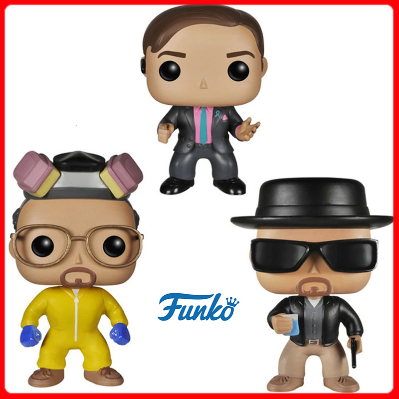 Funko POP Breaking Bad HEISENBERG SAUL GOODMAN Vinyl Action Figures Brinquedos Collection Model Toys For Child Gift