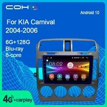 Para kia carnival 2004-2006 android 10 carro usb multimídia de áudio e vídeo gps rádio fm/am bt dvd leitor de navegação por voz