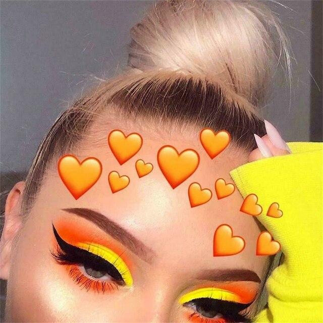 6 Color/Sets Lasting Fluorescent Matte Eyeshadow Neon Pigment Powder Halloween Decoration Eyeshadow Palette Beauty Glazed 3