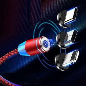 Bozhu 3 en 1 Cable magnético Micro USB tipo C Cable para IPhone Huawei Xiaomi cargador magnético de carga rápida USB C para Huawei P20
