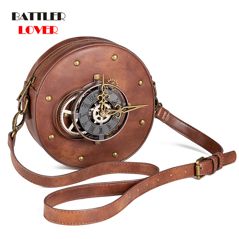 Luxury Handbag Designer Bags For Women 2020 Steampunk Messenger Bags Ladies Chain Shoulder Bags Leather Clutch Purse Sac A Main