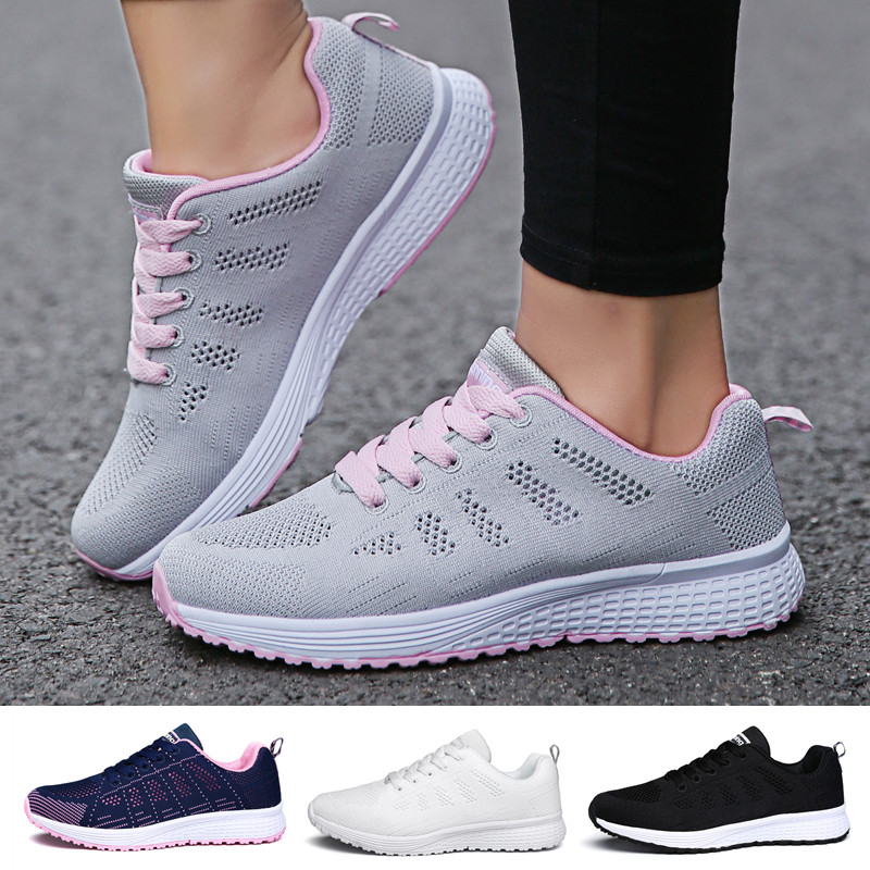 Womens Lightweight Breathable Sport Shoes Walking Comfortable Mesh Sneakers