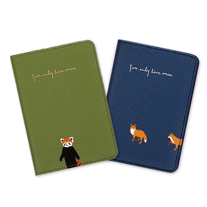 Fashion Pattern Leather Passport Cover Women Men Multi-function Travel Passport Holder Wallet ID Packet Bank Credit Card Holder