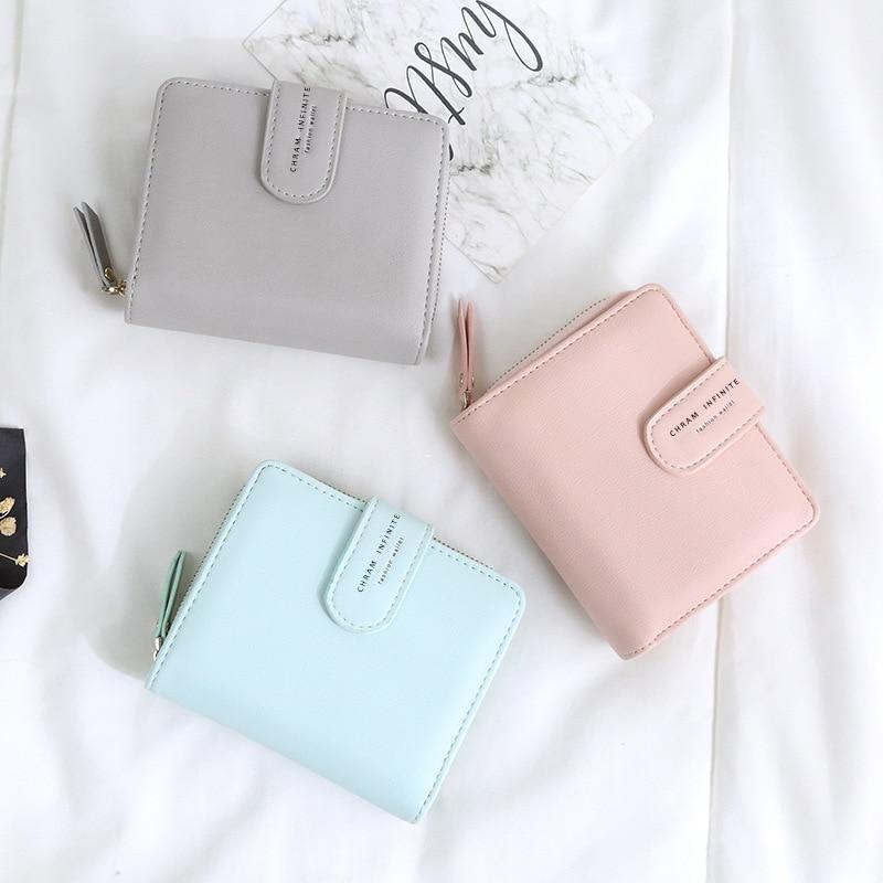 Nouveau femmes portefeuille de nombreux départements porte-carte pliable dames petit sac à main fermeture éclair moraillon porte-cartes de haute qualité femmes portefeuilles