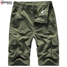 WWKK New Shorts Men Board Shorts 100%Nylon Fashion Style Man Cargo Comfortable  Beach Shorts Casual Trunks Male  5XL