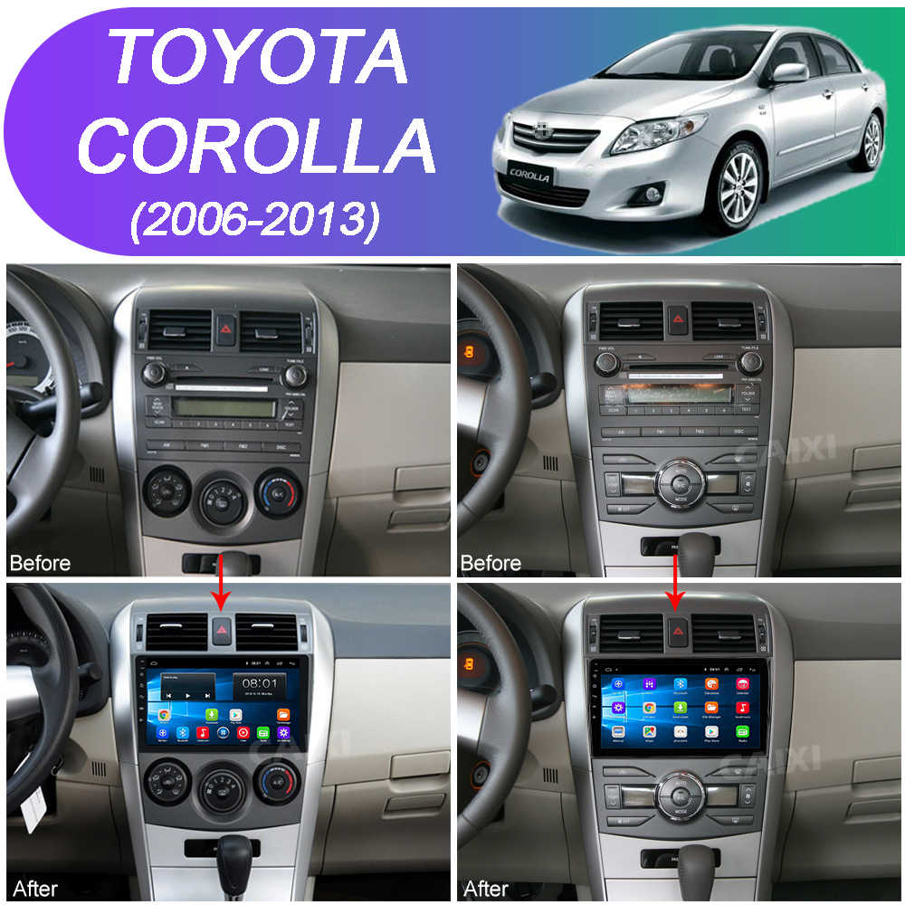 9 Inci 2din Android8.1 Mobil Radio Multimedia Player untuk Toyota Corolla E140/150 2008 2009 2010 2011 2012 2013 stereo Navigasi