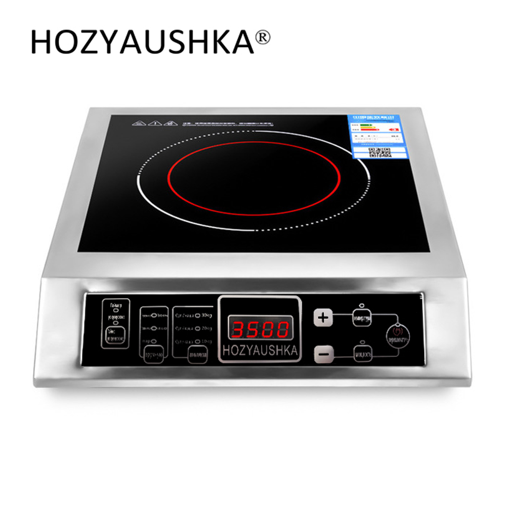High power induction cooker 3500W commercial stainless steel induction cooker household stir fry