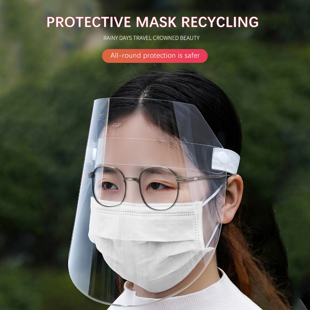 Creative protective face shield Kitchen Oil-Splash Proof Mask Transparent Virus protection mask kitchen outdoor accessories 5