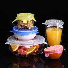 6 pièces couvercle en Silicone alimentaire couvercles en Silicone universels pour bol de batterie de cuisine