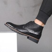 Męskie buty skórzane męskie duże Size38 48 zasznurować kowbojki męskie buty męskie wodoodporne buty nowe buty platformy Botines Hombre