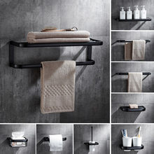 Bathroom Accessories, Corner Shelf,Towel Rack,Paper holder,Towel Bar,Soap basket,Towel Rail Black Oil Brushed bathroom Hardware(China)
