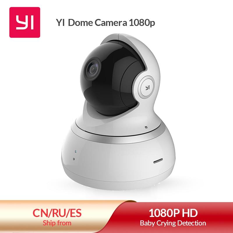 Yi dome câmera 1080p hd nuvem & cartão de memória 360 câmera pan/tilt zoom câmera ip sistema de vigilância segurança em casa visão noturna