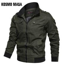 KOSMO MASA Cotton Bomber Jacket Men Windbreaker Army Military 2019 Spring Autumn Casual Mens Coats And Jackets For Men MJ0087
