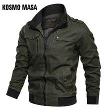 Ksmo MASA veste bombardier en coton pour homme, blouson coupe vent militaire, printemps automne, 2019, manteaux et vestes pour hommes, MJ0087, décontracté