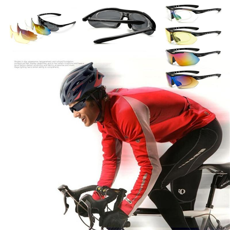 Polarized Cycling Sun <font><b>Glasses</b></font> Outdoor Sports Bicycle <font><b>Glasses</b></font> Men Women <font><b>Bike</b></font> Sunglasses 29g Goggles Eyewear <font><b>5</b></font> <font><b>Lens</b></font> Safety Goggles image