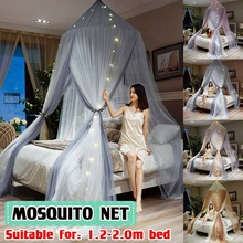 Bed Canopy Double Layer Hung Mosquito Net Princess Bed Tent Curtain Foldable Canopy On The Bed Elegant Fairy Lace