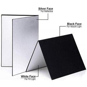 Image 5 - Отражатель для фотосъемки, складной картон, белый, черный, серебристый, светоотражающая бумага, мягкая доска, реквизит для фотосъемки