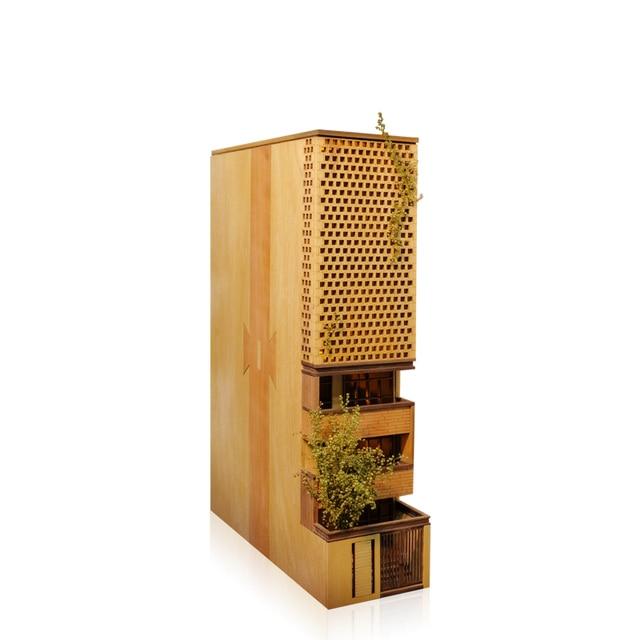 홈 장식 밤 빛 Bookend 펜 홀더 DIY 나무 공예 키트 미니어처 빈티지 모델 장식 액세서리 친구를위한 선물