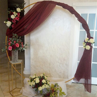 Żelazny pierścień łuk rekwizyty ślubne tło koło kwietny łuk trawnik zewnętrzny ślubny kwiat drzwi drogi prowadzącej dekoracje ślubne i urodzinowe w Łuki ślubne od Dom i ogród na