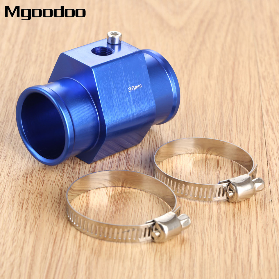 Universal Aluminum Alloy Water Temperature Sensor Adapter Ejoyous 36mm Temperature Sensor Adapter Blue