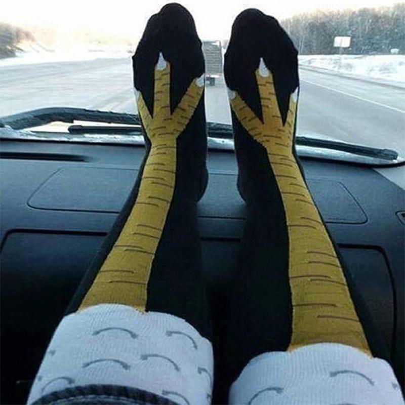 1 Pair 3D Funny Chicken Women Socks Winter Autumn Thigh High Sock Cartoon Ainimals Cute Funny Thin Toe Feet Ladies Creative Sock