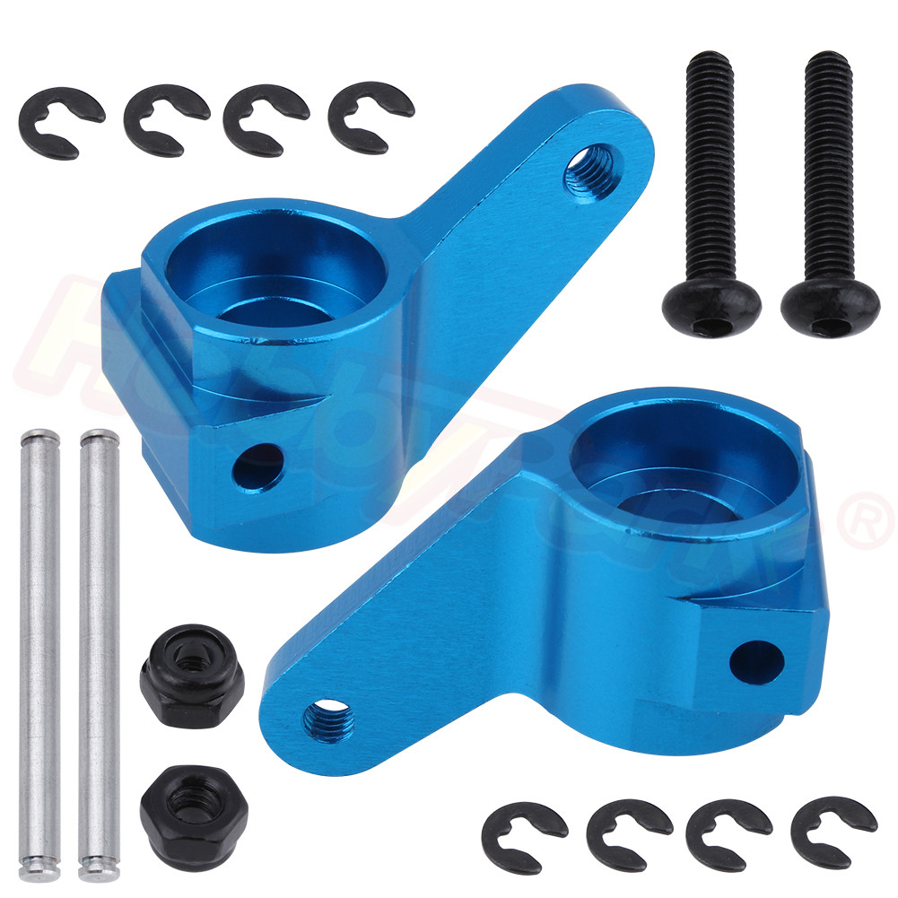 Aluminum Front Steering Blocks Replace 3736 for 1/10 Traxxas Slash 2WD Rustler Stampede Bandit Upgrade Parts(China)