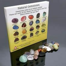 20 видов природных минералов искусственных кристаллов зеркальная