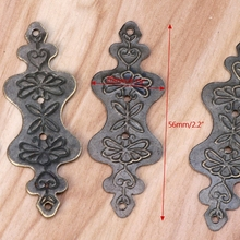 4 шт. античная латунь декоративная подарочная коробка для ювелирных изделий альбом ноги угол протектор 72XF