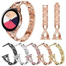 Correa de lujo para reloj Samsung Galaxy Watch 3, de 20 a 22mm, 46mm, gear s3 Active, pulsera de acero para huawei Amazfit Watch