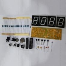 1Set DIY Electronic Clock Kit LED Microcontroller Digital Clock Time Thermometer New