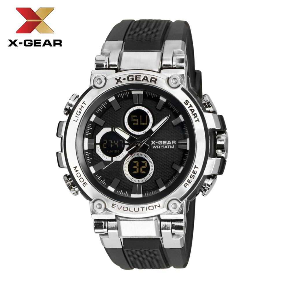 Quartz Watches Men Luxury Brand X-GEAR Watch Men Mechanical Mens Auto Army Watches 3897 Waterproof Calendar Quartz Wristwatch