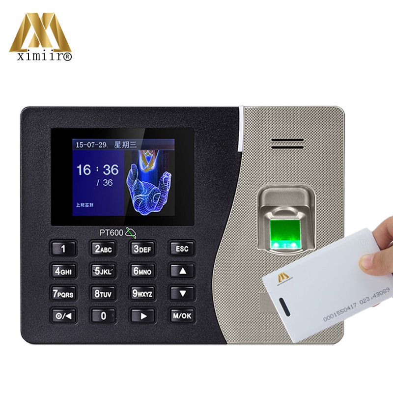 TCP/IP Communication Biometric Fingerprint Time Attendance System PT600 ZK With 125KHz RFID Card And Time Attendance Recorder