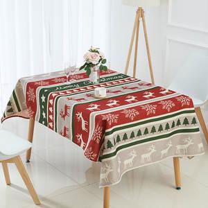 Christmas-Tablecloth Unicorn Square Cat-Linen Rectangular Animal Customize Waterproof